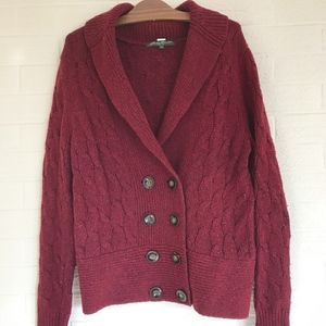 Eddie Bauer Wool Blend Cable Knit Cardigan